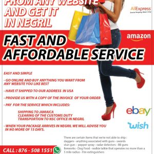 Order online and get it at the mall at Negril Service Center